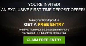 DraftKings Free $3 Ticket Promotion